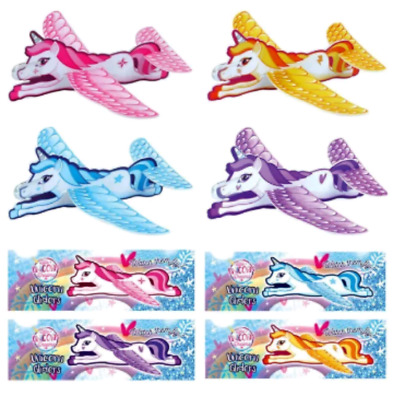 Unicorn Gliders Flying planes Kids Girls Pink Pinata Loot Party Bag Fillers Toys
