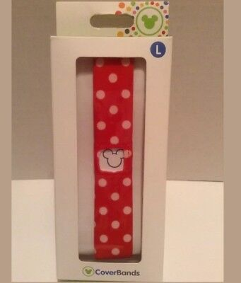 DISNEY Parks Magic Band CoverBands Cover MINNIE MOUSE DOTS Large ~ NEW