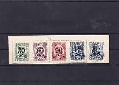 finland 1921 surcharge stamps mm+ used stamps ref 7294