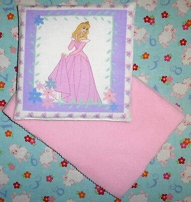 New Disney Princess Aurora toy pram cot bed sheet and pillow set baby doll