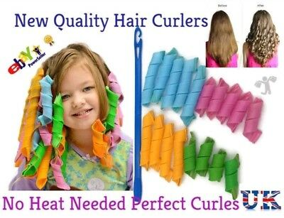 54 Pcs New Quality Hair Curlers Spiral Twist Roller Styling Tool DIY