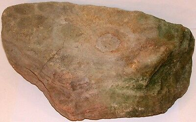 Indian artifact NUTTING CUPPING STONE Archaic Period sandstone large size Rare