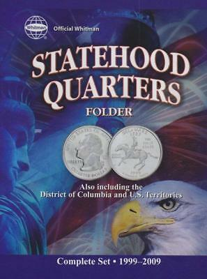 Official Whitman Statehood Quarters Folder Complete 50 State Set+Territories TOP