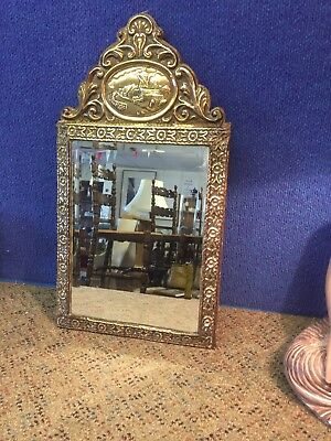 Antique Decorative Brass Mirror