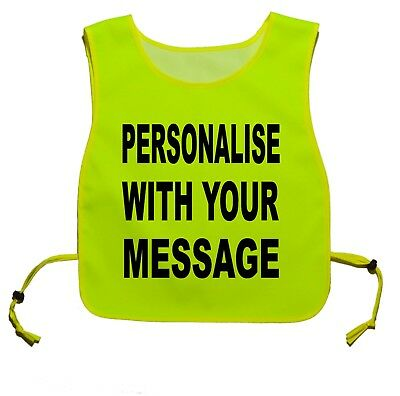 Personalised Printed Yellow tabard for dog Walking reactive, nervous, space dogs