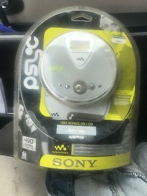 Sony Walkman D-NE300 Atrac Discman Personal CD Player MP3 CD Psyc Silver Sealed