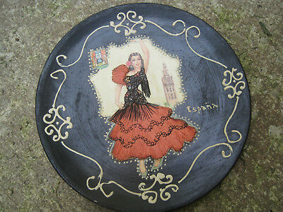 VTG Flamenco Spanish DANCER HANDPAINTED PLATE-ESPANA
