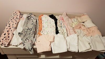 Baby girls next 3-6 months bundle sleepsuits and vests