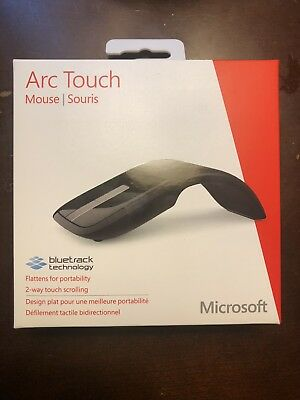 Microsoft Arc Touch Mouse USB w/ Bluetrack - Brand New Sealed - RVF-00053