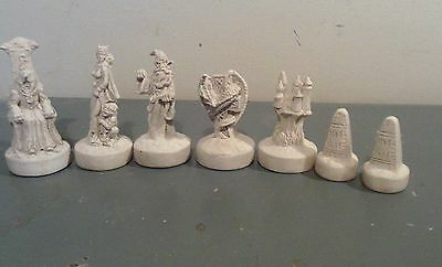Dark Lord Fantasy chess set latex moulds