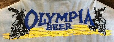 OLYMPIA BEER long sleeve shirt ( M ) with GOOD LUCK Horseshoes
