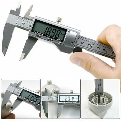 """6"""" 150mm Electronic Digital Stainless Steel Vernier Caliper Micrometer Guage LCD"""