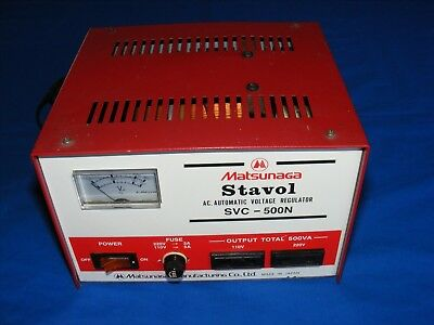 Matsunaga Stavol A.C. Automatic Voltage Regulator SVC-500N