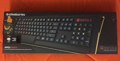 Dota 2 The Internationals 2015 Special Edition M800 Steelseries Keyboard +Extras