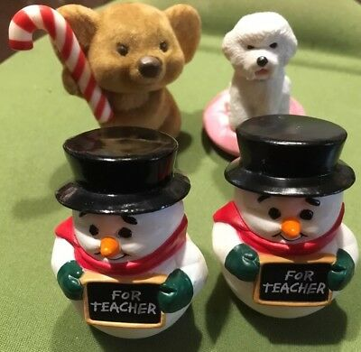 "HALLMARK MERRY MINIATURE Christmas ""SNOWMAN FOR TEACHER"" DATED 1988*"