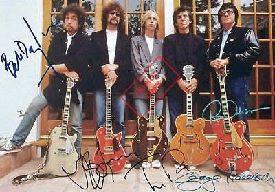 REPRINT RP 8.5x11 Signed Photo: Traveling Wilburys