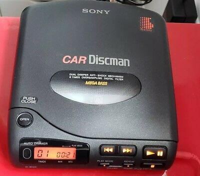Sony D-802K Car Discman Mega Bass Portable CD Player - Excellent Made in Japan