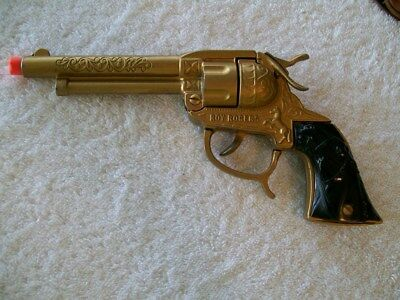 Vintage Rare Roy Rogers Gold Painted ''smoker'' Cap Gun 1950