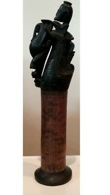 Indonesian Art Artifacts Carvings Collection Batik - 5 Items