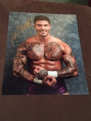 wwe adam maxted signed autographed 8x10 photo proof love island world of sport
