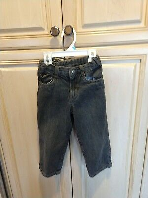 Euc Toddler Boys Calvin Klein Denim Black Jeans Adjustable Waist, Size 3T $$