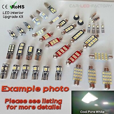 Interior Light LED replacement kit for Vauxhall ZAFIRA A GSI 98-05 12pcs WHITE