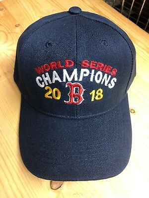 Navy Blue Boston Red Sox World Series Champions 2018 Baseball Hat