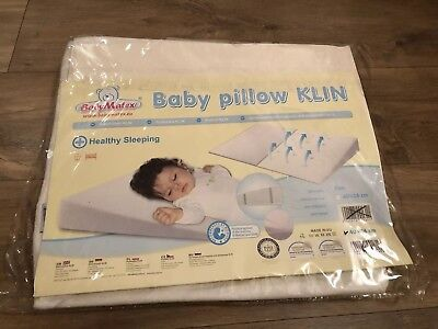 Baby Wedge Pillow & Pillow Case Anti-Reflux /Colic: Moses Basket, Crib or Pram