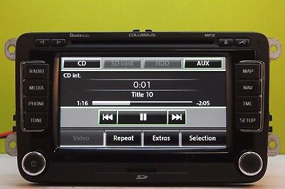 SKODA OCTAVIA SUPERB Sat Nav Columbus Mib2 Unlocked With Screen