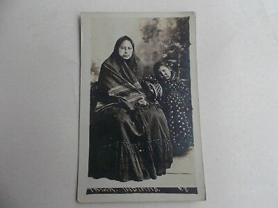 Tama Indian Mother and Child RPPC 1921
