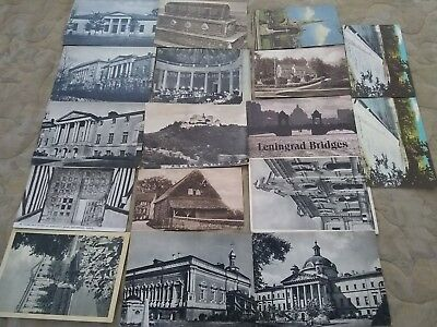 VINTAGE Eastern european or USSR RUSSIAN and english POSTCARD LOT