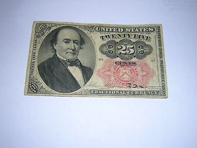 1874-76 25 Cent U S Fractional Currenet 5 Th Issue Robert Walker Bank Note