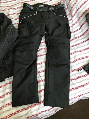 Mens Texpeed Black Waterproof Motorbike Trouser