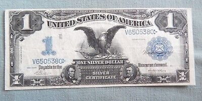1899 US Large $1 Silver Certificate Note Eagle Vernon-McClung L4