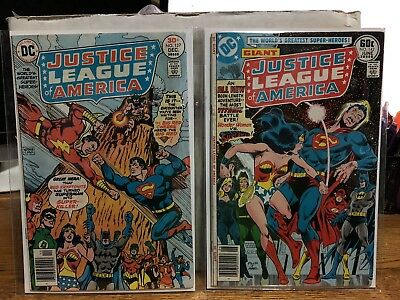 DC COMICS JUSTICE LEAGUE OF AMERICA #137 and #143 Fine + Condition See Pictures