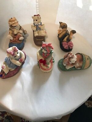 CALICO Kittens In Shoes Lot Of 6