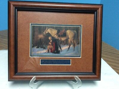 """George Washington, """"The Prayer at Valley Forge"""" ~ by Arnold Friberg 10 X 12"""