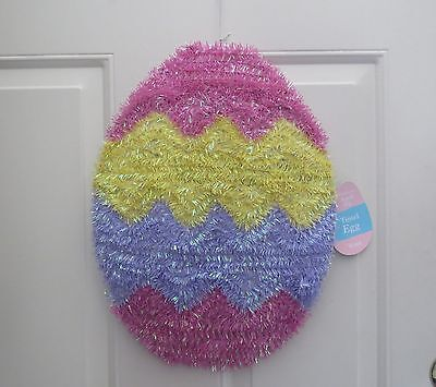 Colorful Tinsel Easter Egg Hanging