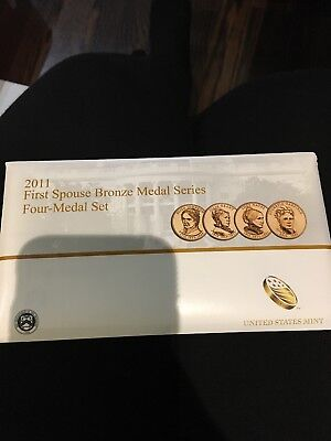 2011 First Spouse Bronze Medal Series Four Medal Set