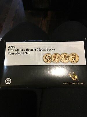2010 First Spouse Bronze Series Four-Medal U.S. Mint Set