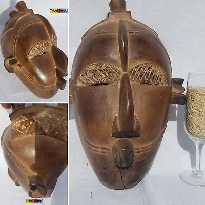 GORGEOUS DELIGHTFUL Mask Figure Statue Sculpture Fine African Art