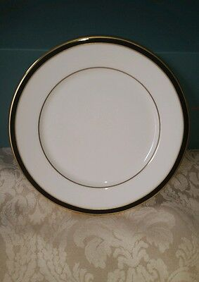 """Lenox Debut Collection Kristy 6 1/2"""" Bread and Butter Plate White Black Gold New"""