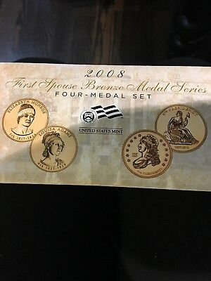 2008 - First Spouse Bronze Medal Series - Four Medal Set