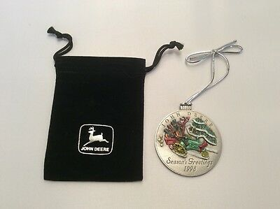 1998 John Deere Pewter Christmas Ornament ~ New in Package ~ MADE IN U.S.A.