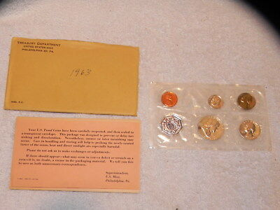 1963 U.S. Mint Silver Proof Set w/Original Envelope