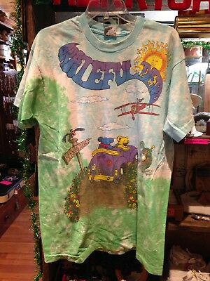 XL Men Grateful Dead Shirt T Shirt Vintage 1992 Spring Tour Tie Dye Bear Liquid