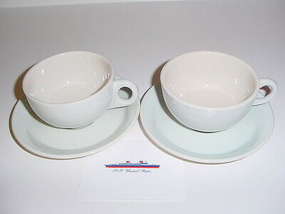 SS UNITED STATES LINES  Set of Cups & Saucers  /  Perfect Condition