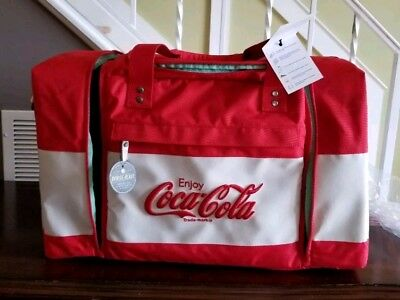 HEX Red Coca Cola Logo Travel duffle bag (sneaker bag) NWT