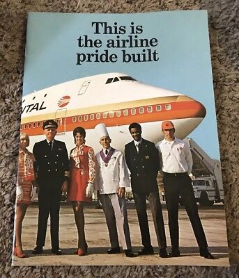 1971 Continental Airlines Brochure Booklet, 26 Pgs