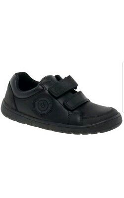 Clarks Fuzzle Pop Boys Black Leather School Shoes New without box
